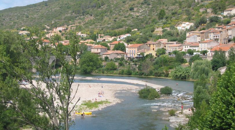 Roquebrun, een schilderachtig dorpje aan de Orb